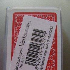 Barajas de cartas: BARAJA CLÁSICA DE PÓKER. ESTAMPADO ROJO. VARITEMAS. TAMAÑO MINI. . Lote 15029013
