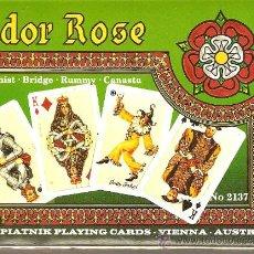 Barajas de cartas: BARAJA NAIPES CARTAS - TUDOR ROSE- CANASTA. Lote 20810259