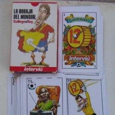 Barajas de cartas: BARAJA DE CARTAS INTERVIU LA BARAJA DEL MUNDIAL . Lote 26282301