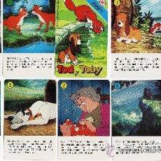 Barajas de cartas: NAIPES / BARAJA - TOD Y TOBY - H. FOURNIER - W. DISNEY - 32 CARTAS - SIN CAJA - NUEVAS - AÑO 1981. Lote 220418861