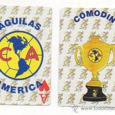 Barajas de cartas: BARAJA DE CARTAS DE POKER FUTBOL AGUILAS AMERICA MEXICO NAIPES . Lote 58264889