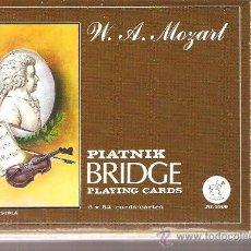 Barajas de cartas: BARAJA NAIPES CARTAS - PIATNICK BRIDGE W.A.MOZART . Lote 26055965