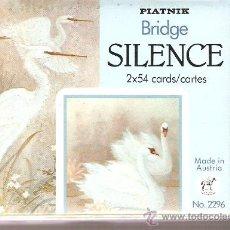 Barajas de cartas: BARAJA NAIPES CARTAS - PIATNICK BRIDGE SILENCE . Lote 26099187