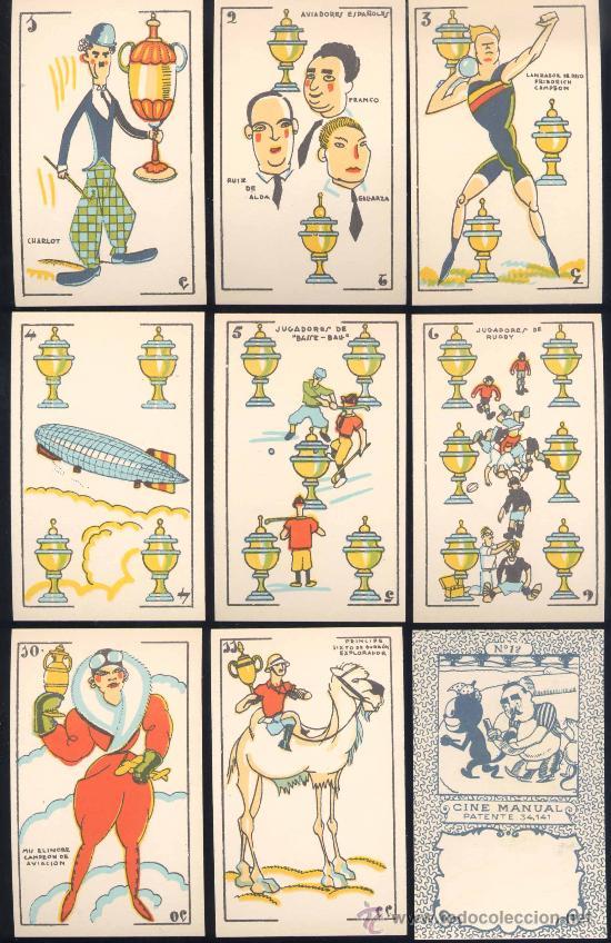 BARAJA COMPLETA DE 48 NAIPES CINE MANUAL (Juguetes y Juegos - Cartas y Naipes - Otras Barajas)