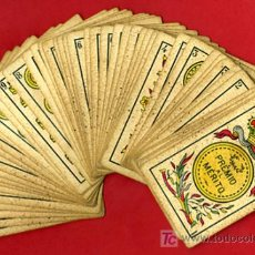 Barajas de cartas: BARAJA EL CID , SIMEON DURA , MUY ANTIGUA , 1888 , SIGLO XIX , SELLO DE 30 CENTIMOS, 48 NAIPES E. Lote 26822936