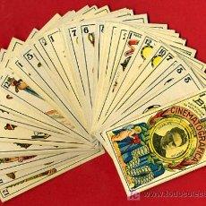 Barajas de cartas: BARAJA CINEMATOGRAFICA ORIGINAL, IMPECABLE,LEER DESCRIPCION, AÑOS 30,TEMA CINE , 40 NAIPES B. Lote 27195605
