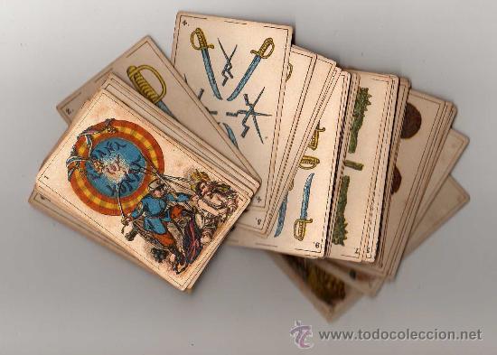 BARAJA ESPAÑOLA, POLITICA DE 48 CARTAS, 1872 BARCELONA, COMPLETA, ANTIGUA, NO COPIA , (Juguetes y Juegos - Cartas y Naipes - Baraja Española)