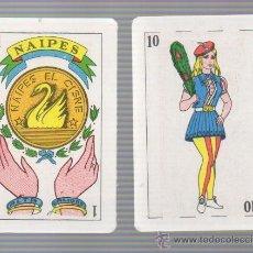Barajas de cartas: BARAJA DE CARTAS EL CISNE TIPO ESPAÑOLA NAIPES AÑOS '60. Lote 32941518