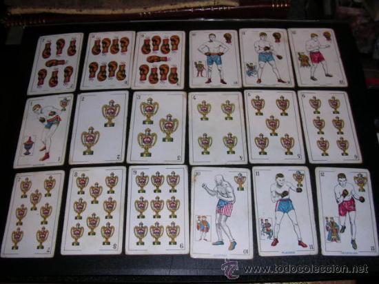 Barajas de cartas: BARAJA DEPORTIVA,BOXEO,CHOCOLATES AMATLLER,COMPLETA,48 CARTAS,SEÑALES DE USO,VER FOTOS ADICONALES. - Foto 3 - 20009950