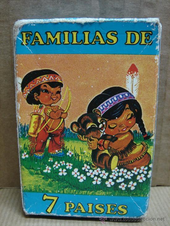 BARAJA FAMILIAS DE 7 PAISES HERACLIO FOURNIER 42+ 2 ¡¡ COMPLETA ¡¡¡¡ AÑO 2000 (Juguetes y Juegos - Cartas y Naipes - Barajas Infantiles)