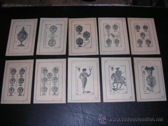 Barajas de cartas: MUY RARA BARAJA DE TAUROMAQUIA - C. GONZALEZ 1902 , VALLADOLID, IMP. LA LIBERTAD , 39 CARTAS - Foto 5 - 26801510