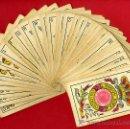 Barajas de cartas: BARAJA ESPAÑOLA SIMEON DURA VALENCIA,SELLO 10 CTS. ,CON 39 CARTAS FALTA 1 CARTA, 1888 ,REVERSO ROJO. Lote 27498858
