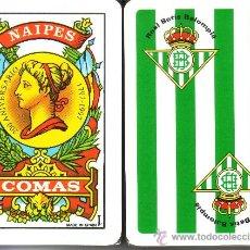 Barajas de cartas: REAL BETIS BALOMPIE BARAJA ESPAÑOLA 50 CARTAS. Lote 54066359
