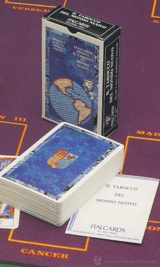 TAROT-ITALCARDS-BOLOGNA -TAROCCO DEL MONDO NUOVO-DISEGNI DI ANERIGO FOLCHI-1991-PERFECTA (Juguetes y Juegos - Cartas y Naipes - Barajas Tarot)