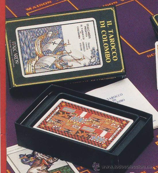 TAROT-ITALCARDS-BOLOGNA -IL TAROCCO DI COLOMBO DISEÑO DE AMERIGO FOLCHI -EDICION LIMITADA- 1991 (Juguetes y Juegos - Cartas y Naipes - Barajas Tarot)