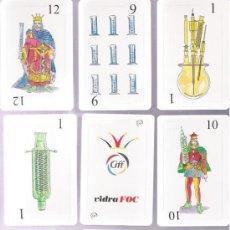 Barajas de cartas: BONITA BARAJA ESPECIAL DE VIDRA FOC, 48 CARTAS DIFERENTES + 2 COMODINES, CON ENVASES DE LABORATORIO. Lote 160152145