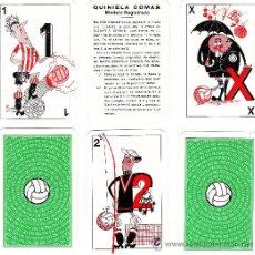 Barajas de cartas: NAIPES.- BARAJA DE CARTAS.- QUINIELAS 1X2./FUTBOL - ED COMAS - 30 CARTAS.- CON ESTUCHE- SIN ESTRENAR. Lote 195436378
