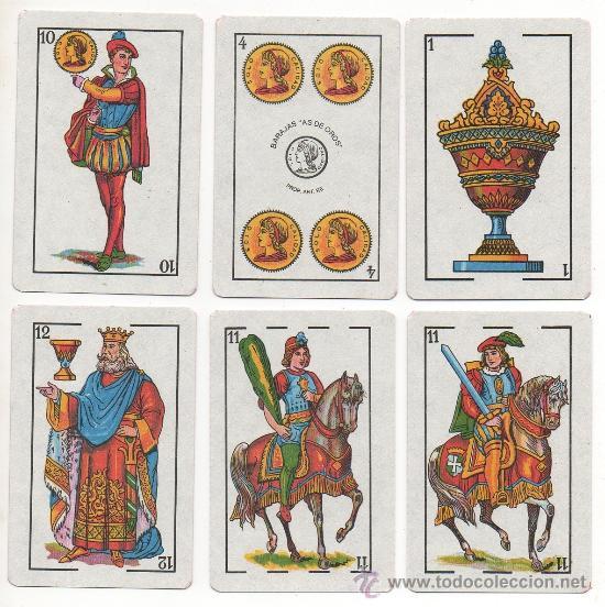 Barajas de cartas: 1.42 BARAJA DE CARTAS AS DE OROS DE TIPO ESPAÑOL NAIPES - Foto 2 - 35980483