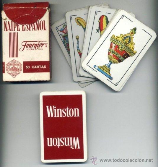 BARAJA CARTAS ESPAÑOLA. PUBLICIDAD WINSTON. FOURNIER. 50 CARTAS. NAIPES. (Juguetes y Juegos - Cartas y Naipes - Otras Barajas)