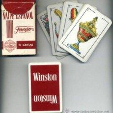 Barajas de cartas: BARAJA CARTAS ESPAÑOLA. PUBLICIDAD WINSTON. FOURNIER. 50 CARTAS. NAIPES.. Lote 26596739