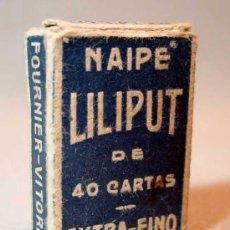 Barajas de cartas: 40 NAIPES, BARAJAS, LILIPUT, FOURNIER, EN CAJA, COMPLETO. Lote 18953489