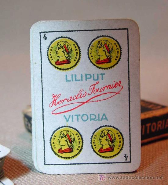 Barajas de cartas: 40 NAIPES, BARAJAS, LILIPUT, FOURNIER, EN CAJA, COMPLETO - Foto 3 - 18953489