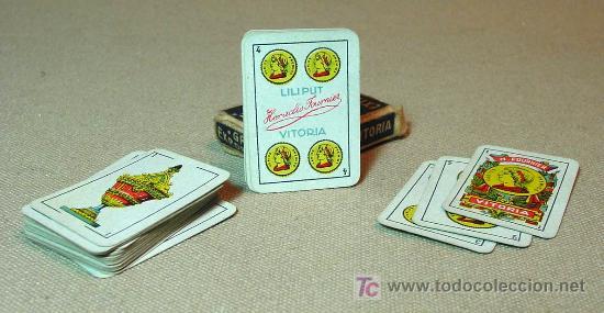 Barajas de cartas: 40 NAIPES, BARAJAS, LILIPUT, FOURNIER, EN CAJA, COMPLETO - Foto 2 - 18953489