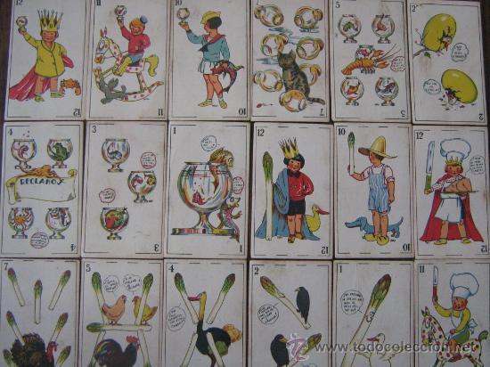 ANTIGUA BARAJA JUEGO DE NIÑOS INCOMPLETA 30 CARTAS SIN PUBLICIDAD POR DETRAS MIREN FOTOS (Juguetes y Juegos - Cartas y Naipes - Barajas Infantiles)
