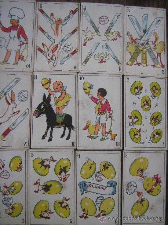 Barajas de cartas: antigua baraja juego de niños incompleta 30 cartas sin publicidad por detras miren fotos - Foto 2 - 21354295