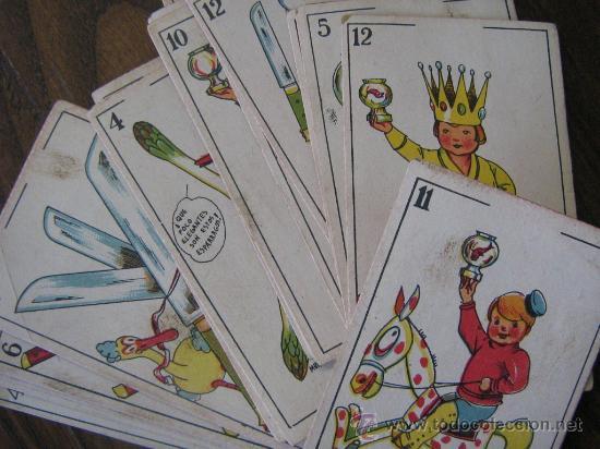 Barajas de cartas: antigua baraja juego de niños incompleta 30 cartas sin publicidad por detras miren fotos - Foto 3 - 21354295