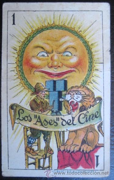 CARTA SUELTA. CHOCOLATES AMATLLER-BARCELONA. COLECCION LOS ASES DEL CINE. ENVIO GRATIS¡¡¡ (Juguetes y Juegos - Cartas y Naipes - Otras Barajas)