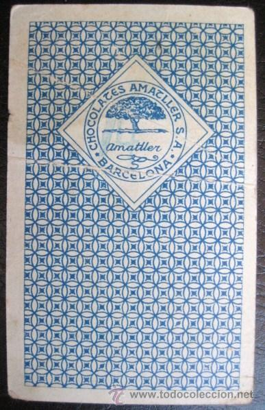 Barajas de cartas: CARTA SUELTA. CHOCOLATES AMATLLER-BARCELONA. COLECCION LOS ASES DEL CINE. ENVIO GRATIS¡¡¡ - Foto 2 - 18547468