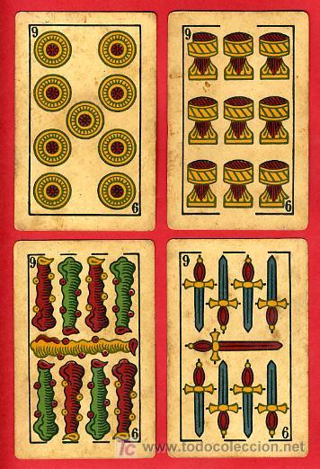 Barajas de cartas: BARAJA ANTIGUA , LA LOBA ,JUAN ROURA, 1939 , EXPORTACION, VER FOTOS, COMPLETA 40 NAIPES. - Foto 11 - 27195601