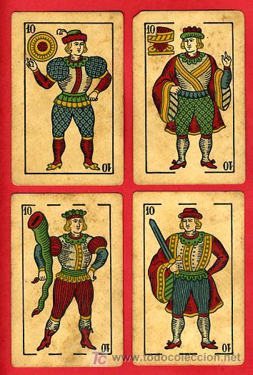 Barajas de cartas: BARAJA ANTIGUA , LA LOBA ,JUAN ROURA, 1939 , EXPORTACION, VER FOTOS, COMPLETA 40 NAIPES. - Foto 12 - 27195601