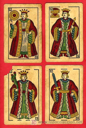 Barajas de cartas: BARAJA ANTIGUA , LA LOBA ,JUAN ROURA, 1939 , EXPORTACION, VER FOTOS, COMPLETA 40 NAIPES. - Foto 14 - 27195601