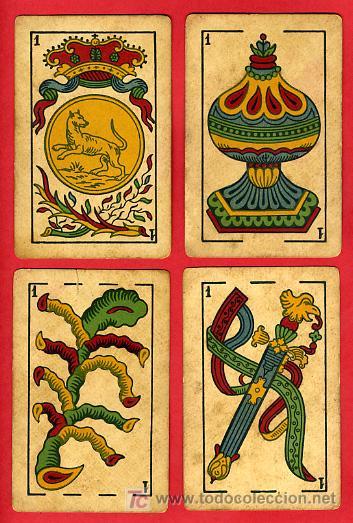 Barajas de cartas: BARAJA ANTIGUA , LA LOBA ,JUAN ROURA, 1939 , EXPORTACION, VER FOTOS, COMPLETA 40 NAIPES. - Foto 3 - 27195601