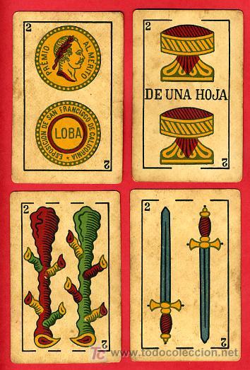 Barajas de cartas: BARAJA ANTIGUA , LA LOBA ,JUAN ROURA, 1939 , EXPORTACION, VER FOTOS, COMPLETA 40 NAIPES. - Foto 4 - 27195601