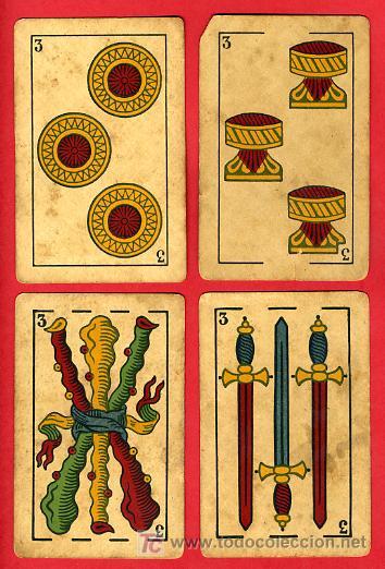 Barajas de cartas: BARAJA ANTIGUA , LA LOBA ,JUAN ROURA, 1939 , EXPORTACION, VER FOTOS, COMPLETA 40 NAIPES. - Foto 5 - 27195601