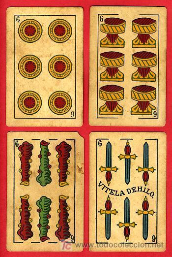 Barajas de cartas: BARAJA ANTIGUA , LA LOBA ,JUAN ROURA, 1939 , EXPORTACION, VER FOTOS, COMPLETA 40 NAIPES. - Foto 8 - 27195601