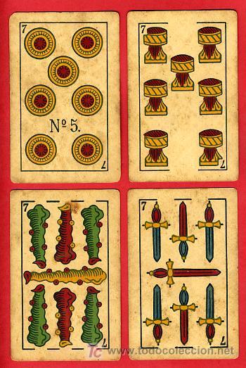 Barajas de cartas: BARAJA ANTIGUA , LA LOBA ,JUAN ROURA, 1939 , EXPORTACION, VER FOTOS, COMPLETA 40 NAIPES. - Foto 9 - 27195601
