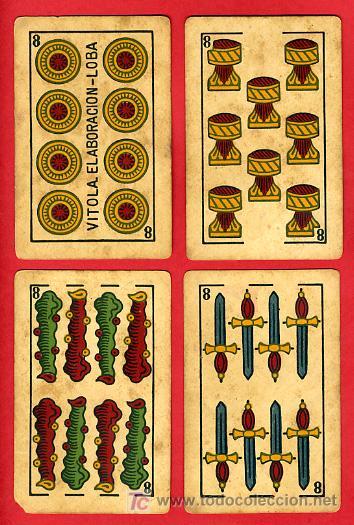 Barajas de cartas: BARAJA ANTIGUA , LA LOBA ,JUAN ROURA, 1939 , EXPORTACION, VER FOTOS, COMPLETA 40 NAIPES. - Foto 10 - 27195601