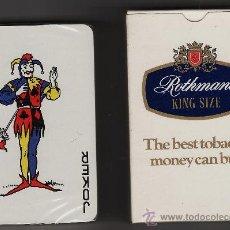 Baralhos de cartas: NAIPES / BARAJA DE CARTAS.- TABACO ROTHMANS.- CON CAJA PRECINTADA SIN ESTRENAR. Lote 22380009