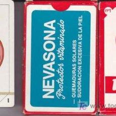 Barajas de cartas: BARAJA COMAS CON PUBLICIDAD DE NEVASONA. ¡ SIN USAR ! - NAIPE ESPAÑOL DE MUS DE 40 CARTAS . Lote 18604140