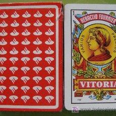 Jeux de cartes: BARAJA DE CARTAS ESPAÑOLA. FOURNIER. BANCO SANTANDER. BANCOS. LOGO MEDIANO. 40 NAIPES. . Lote 18961087