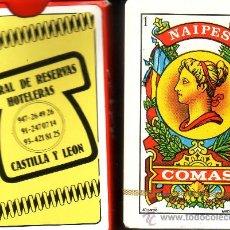 Barajas de cartas: CENTRAL DE RESERVAS HOTELERAS CASTILLA Y LEON - BARAJA ESPAÑOLA DE 40 CARTAS. Lote 19137526