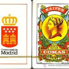 Barajas de cartas: COMUNIDAD DE MADRID - BARAJA ESPAÑOLA DE 40 CARTAS. Lote 19383528