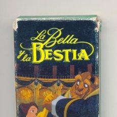 Barajas de cartas: JUEGO DE NAIPES INFANTIL • LA BELLA Y LA BESTIA. DISNEY / HERACLIO FOURNIER S.A.. Lote 26446498