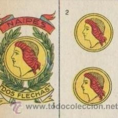 Barajas de cartas: BARAJA DE CARTAS MINI DOS FLECHAS 35 CUATRO DE OROS Y DE COPAS NAIPE. Lote 27305442