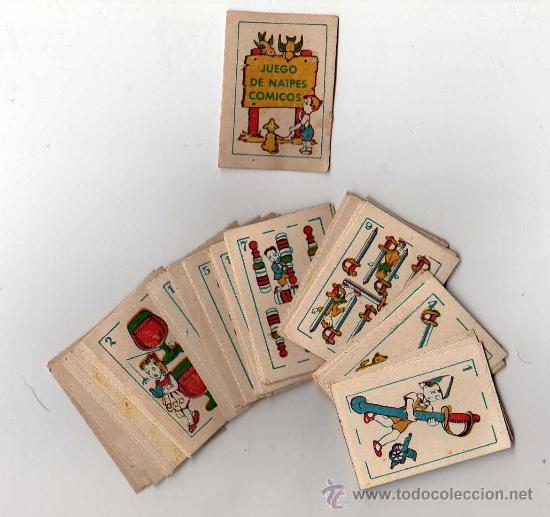 MINI BARAJA INFANTIL ANTIGUA - JUEGO DE NAIPES COMICOS, COMPLETA !!!!!., 6 X 4 CM, (Juguetes y Juegos - Cartas y Naipes - Barajas Infantiles)