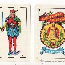 Barajas de cartas: 1.44 BARAJA DE CARTAS LA CAMPANA MEXICO DE TIPO ESPAÑOL NAIPES. Lote 35982414